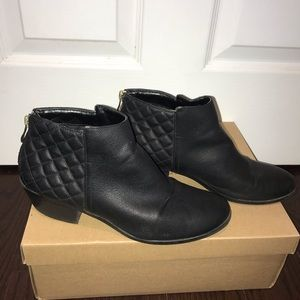 Call it Spring Black Faux Leather Ankle Boots